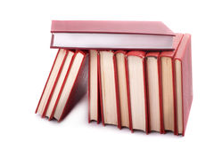 Pile of red books Stock Photo