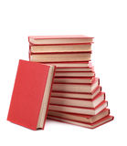Pile of red books Royalty Free Stock Photography