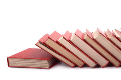 Pile of red books Royalty Free Stock Image