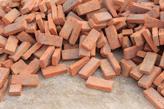 Pile of red brick Royalty Free Stock Photo