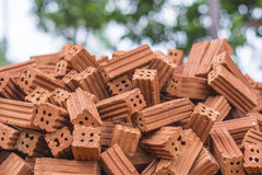 Pile of Red Brick Royalty Free Stock Image