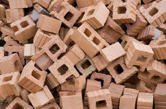 Pile of red bricks Royalty Free Stock Photography