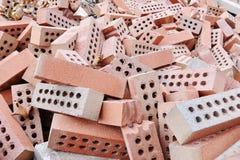 Pile  red bricks Royalty Free Stock Image