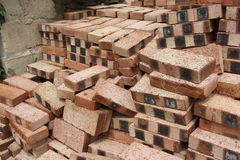 A pile of red bricks Stock Images