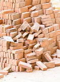 Pile Of Red Bricks. Royalty Free Stock Images