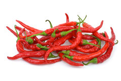 Pile of red chili peppers Royalty Free Stock Photo