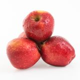 Pile of Red Delicious Apples in Flyer-like picture Stock Image
