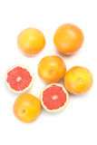 Pile of red grapefruits Royalty Free Stock Images