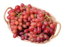 A pile of red grapes Royalty Free Stock Photos