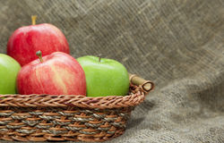 Pile of red and green apple Stock Images