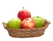 Pile of red and green apple Royalty Free Stock Photo