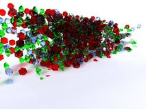 Pile of red and green gems Stock Photos