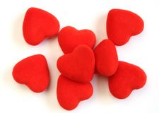 Pile of red hearts Royalty Free Stock Photo