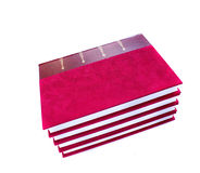 Pile of red luxury covered  books Stock Images
