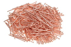Pile of red nails Stock Image