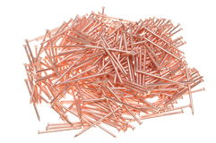 Pile of red nails Royalty Free Stock Images