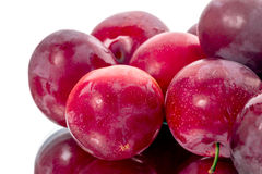 Pile of red plum Stock Images