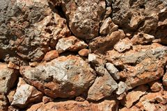 Closeup of red rocks Royalty Free Stock Images