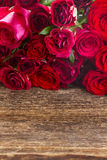 Pile of red roses Stock Image