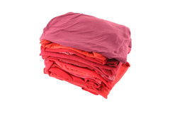 Pile of red shade cloths Stock Photos