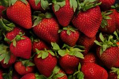 Pile of red strawberries Royalty Free Stock Image