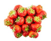 Pile of red strawberries isolated Royalty Free Stock Photo