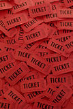 Pile of Red Tickets. Pile of many red tickets for admission to an event Royalty Free Stock Photo