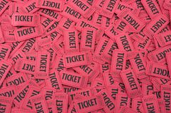 Pile of Red Tickets Horizontal Royalty Free Stock Photo