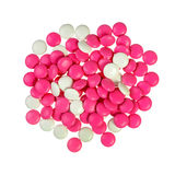 Pile of red and white pills Royalty Free Stock Images
