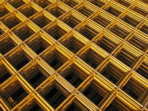 Pile of reinforcing mats. On a building site Royalty Free Stock Photos