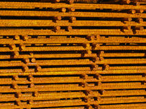Pile of reinforcing mats. On a building site Royalty Free Stock Image