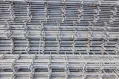 Pile of reinforcing mesh, armature, background, pattern Royalty Free Stock Images