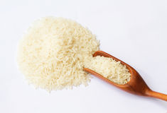 Pile of rice in spoon Stock Image