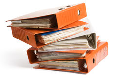 Pile of Ring Binders Royalty Free Stock Photos