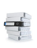 A pile of ring binders Royalty Free Stock Image