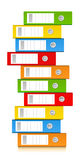 Pile of ring binders stock illustration