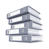 Pile of ring binders Stock Photo