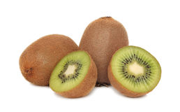 Pile of ripe kiwi on white background Stock Image