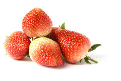 Pile ripe strawberries isolated Royalty Free Stock Image