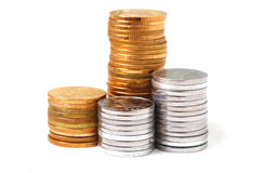 Pile of RMB coins Stock Photos