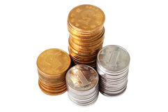 Pile of RMB coins Stock Photo