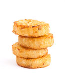 Pile of roast round rissole rich yellow Stock Photos