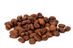 Pile of roasted coffee beans Royalty Free Stock Photo