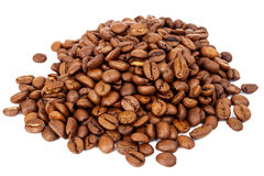 Pile of roasted coffee beans Stock Image