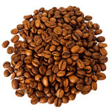 Pile of roasted coffee beans Royalty Free Stock Photography