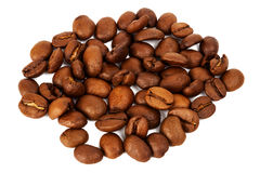 Pile of roasted coffee beans Royalty Free Stock Image