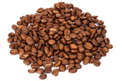 Pile of roasted coffee beans Royalty Free Stock Images