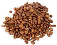 Pile of roasted coffee beans Stock Photo