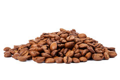Pile of roasted coffee beans Stock Images