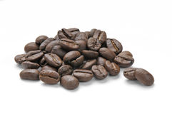 A pile of roasted coffee beans Royalty Free Stock Photos